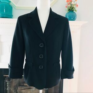 TALBOTS WOMEN'S BLACK DRESS BLAZER SIZE 8